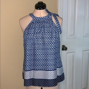 The Limited blue pattern blouse